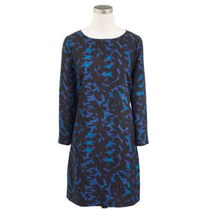 J. Crew Black & Blue Shift Dress Size 2